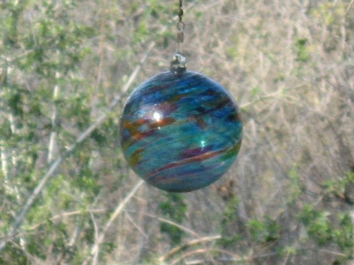 A blown glass sphere.