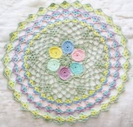An Easter Egg Doily that I made