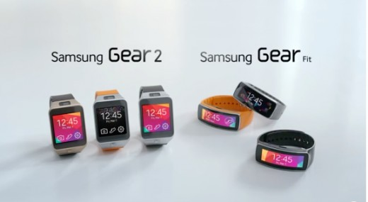 Gear 2 and its fitness tracking sister, the Gear Fit.