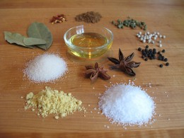 Ingredients for Turkey Brine (Photo courtesy by Cookthinker from Flickr)