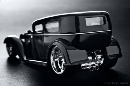Classic gangster car