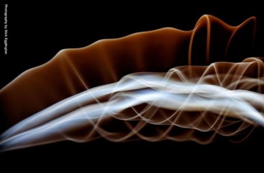 A smoke spiral.