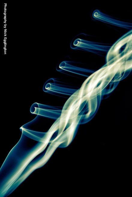 A smokey spiral ladder.