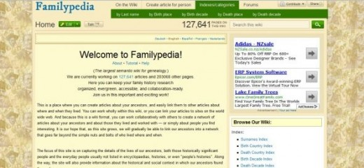 Top section of main page
