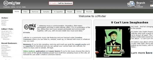 Web snapshot of http://ccmixter.org/