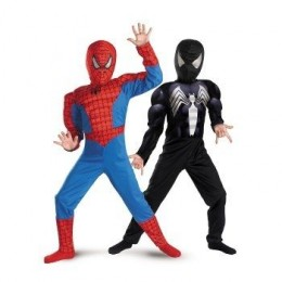 The Amazing Spider-Man Reversible Red to Black Muscle Chest Child Costume