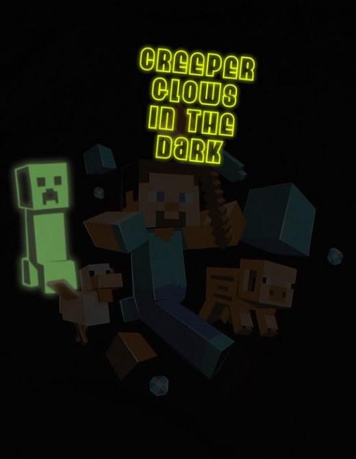 een lichtgevende creeper