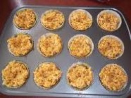 rice krispies nests in muffin pans