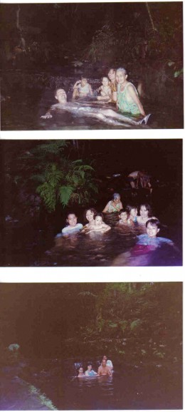 night swimming at hot spring camiguin island