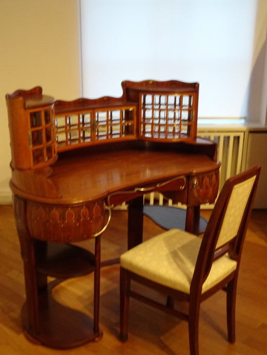 Art Nouveau Chair and Desk