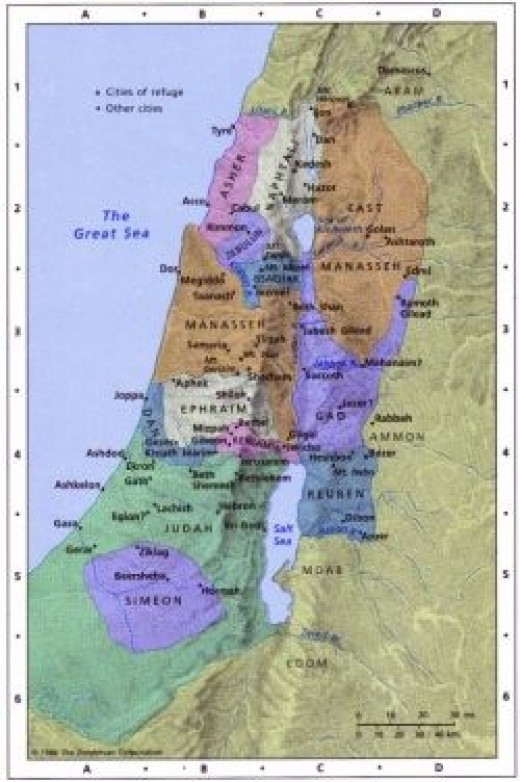 God's map of Israel.