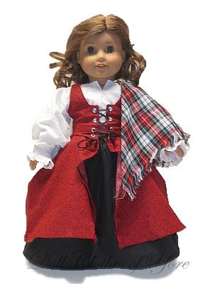 'Queen of Scots' Doll Dress