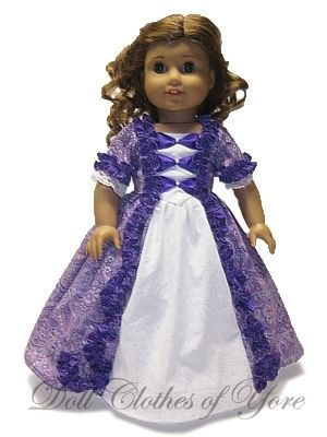'Georgiana's Gown' Doll Dress