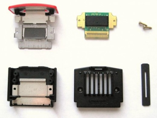 Parts of the Nintendo Expansion Pak