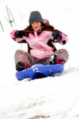 Sledding - a fun thing to do with snow for sure!