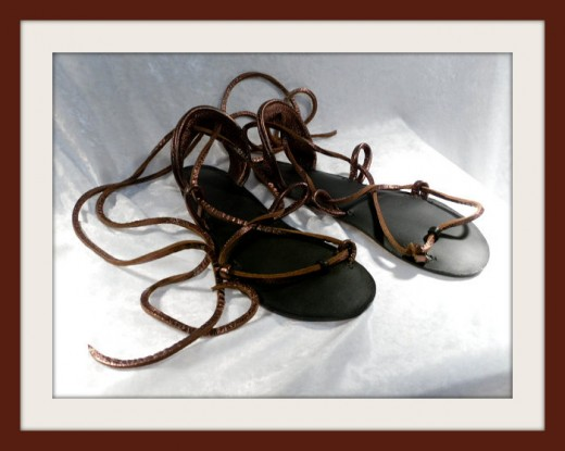 golden sandals by bellacarib on Etsy