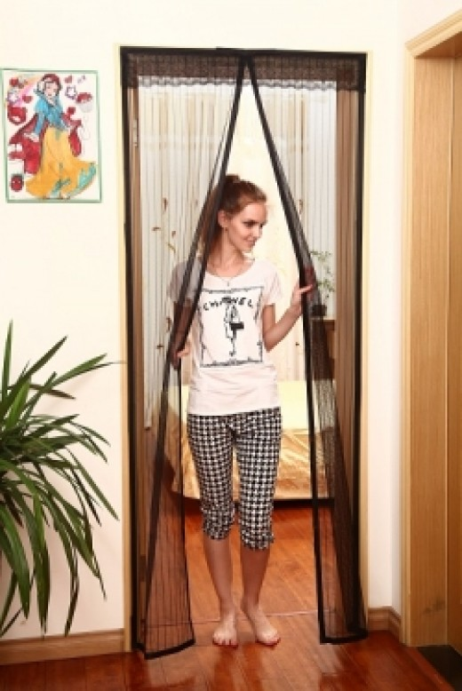 The Magnetic Screen Door can be used  on most standard size doors, inside and outside the home.