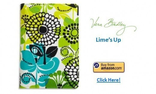 Vera Bradley Kindle Fire Cover - Lime's Up