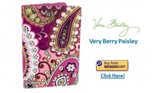 Vera Bradley Kindle Fire Cover - Very Berry Paisley
