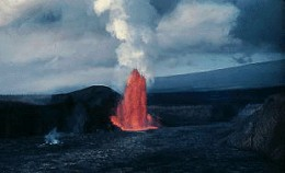 The largest landmass on the planet, from its base beneath the ocean to its summit, is also the most active volcano on Earth.