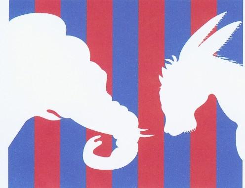 Democrat and Republican logos
