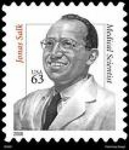 Salk on a postage stamp.