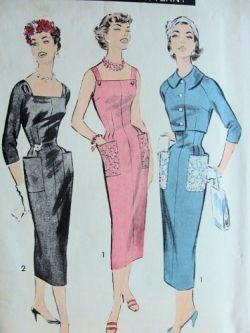 1950s Wiggle Dress Fashions