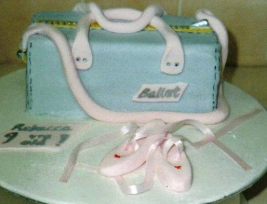 Ballet Bag and Shoes Cake