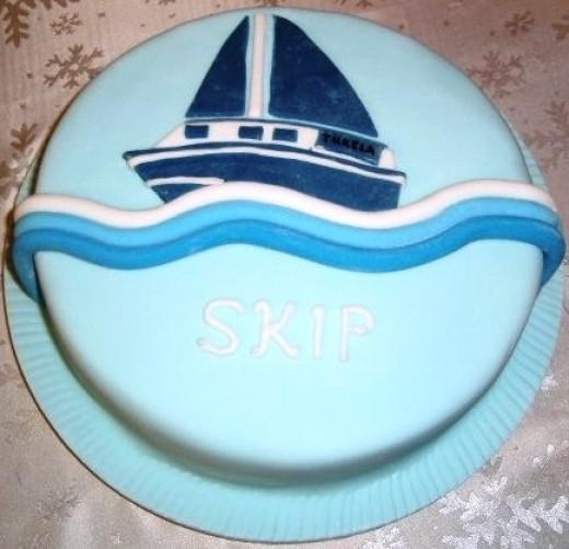 Yacht Cake (copied from a photo of a friends boat)
