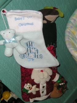 My Grandson's First Christmas Stockings