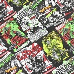 Hell Bunny B Movies Fabric