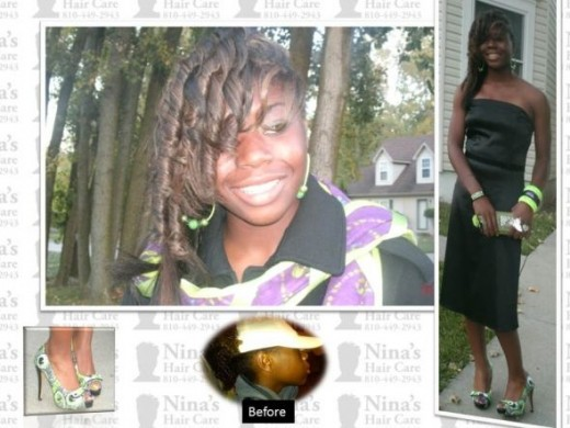 Press and Curl by  Nina's Hair Care Flint MI 8104492943