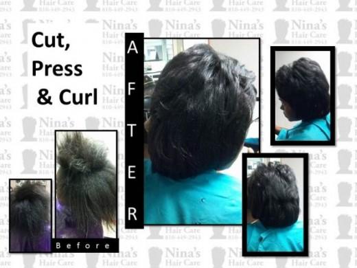 Cut Press and Curl NinasHairCare8104492943