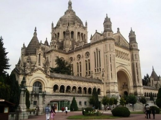 Lisieux Basilica - view from visitor approach