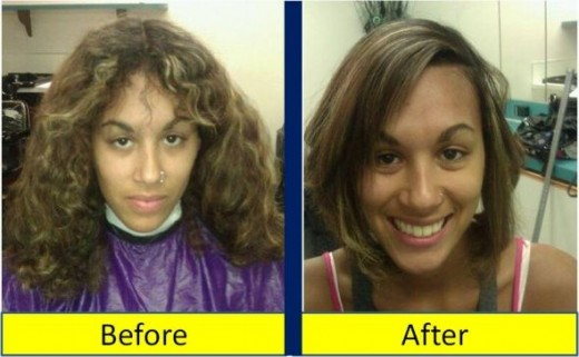 haircut and style Before and After