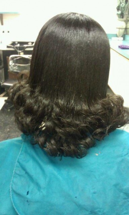 pjress and curl back