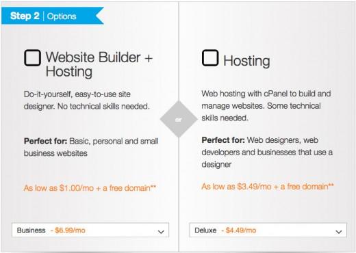 Website builder + hosting option.