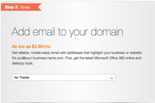 Add email to domain name.
