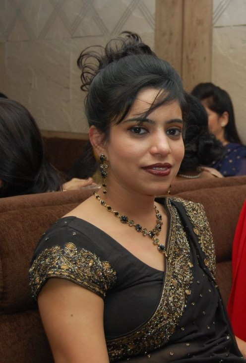 non celebrity in black saree