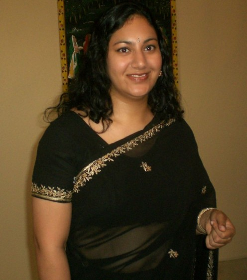 black saree wearing photo