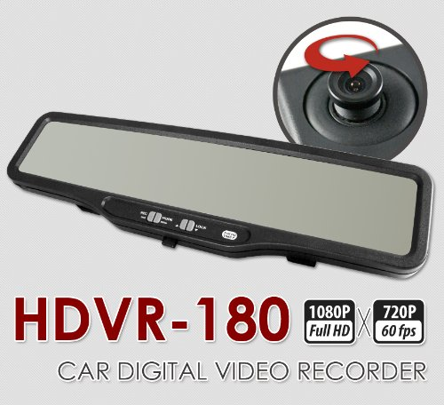 HDVR-180 is the latest version of ABEO's popular rear-view mirror dash cams