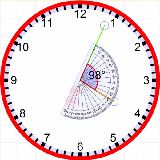 Measuring the angle between clock hands