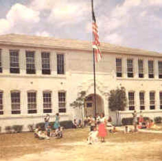 Ponce de Leon School was built in 1919.  The new brick school is about a mile north.