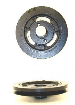 The Harmonic Balancer is on the backside of the fron pulley