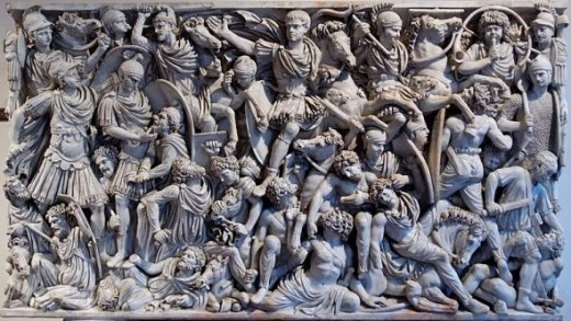 Source: Battle Scene of Ludovisi Battle Sarcophagus, Museo Nazionale Romano