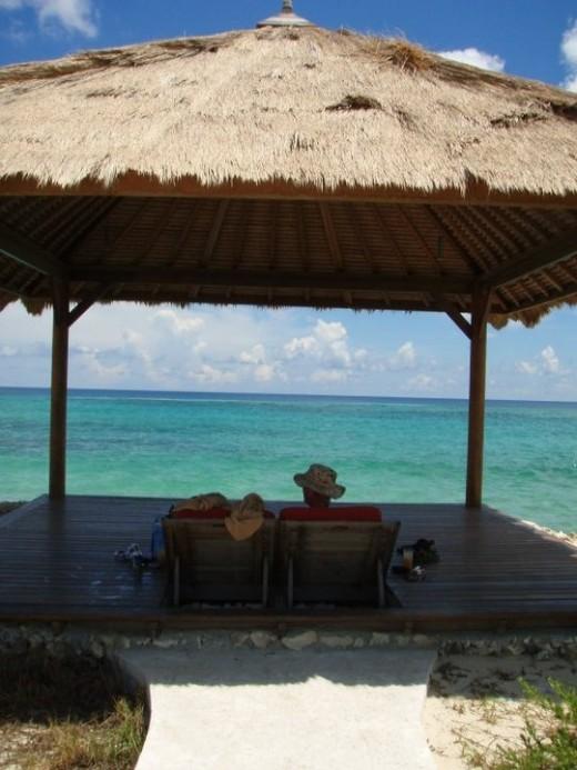 Cabana overlooking ocean