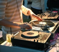 DJ, party, turntable, mixer, knobs