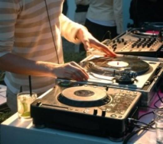 DJ, party, turntable, mixer, knobs