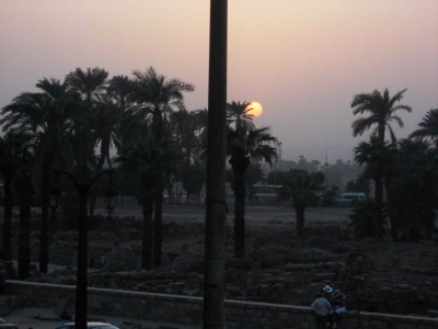 Sunset in Luxor, Southern Egypt