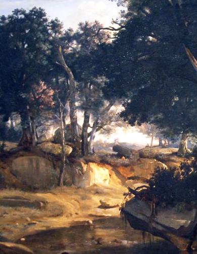 Detail from 'Forest of Fontainebleau' 1830 Jean-Baptiste-Camille Corot